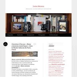 Ouverture d'un axe «Biens communs numériques» dans le Master Infocom de Paris Ouest