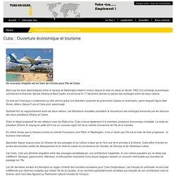Cuba : Ouverture conomique et tourisme