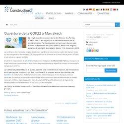 Ouverture de la COP22 à Marrakech