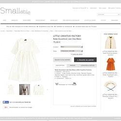 Robe Ouverture Lien Dos Blanc Little Creative Factory - Mode Bébé