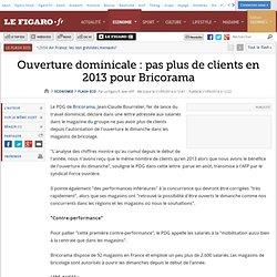 Ouverture dominicale : pas plus de clients en 2013 pour Bricorama