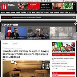 Ouverture des bureaux de vote en Egypte pour les premières élections législatives post-Moubarak - Egypte / Election