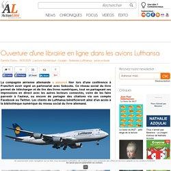 Ouverture d'une librairie en ligne dans les avions Lufthansa