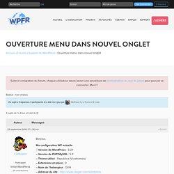 Ouverture menu dans nouvel onglet - WPFR