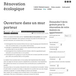 Renovation appartement pearltrees for Devis abattre mur porteur