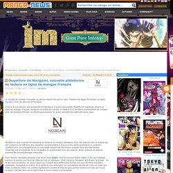Ouverture de Norigami, nouvelle plateforme de lecture en ligne de mangas français, 12 Mai 2017