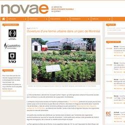 Ouverture d'une ferme urbaine dans un parc de Montréal