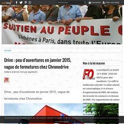 Drive : peu d'ouvertures en janvier 2015, vague de fermetures chez Chronodrive - le blog EURODIF.FO