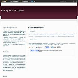 II. – Ouvrages collectifs - Le blog de Jean-Philippe Tricoit
