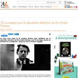 10 ouvrages pour la deuxième sélection du Prix André Malraux...