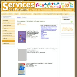 Ouvrages Services aux particuliers