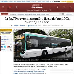 La RATP ouvre sa première ligne de bus 100% électrique à Paris
