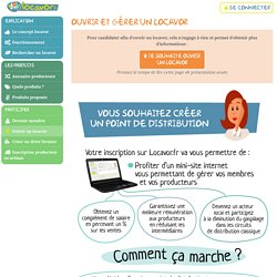 Ouvrez un point de distribution locavor - Locavor.fr