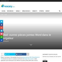 GMail: ouvrez pièces jointes Word dans le navigateur