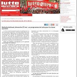 Nathalie Arthaud, dimanche 27mai: un programme de lutte pour la classe ouvrière