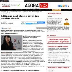 Adidas ne peut plus se payer des ouvriers chinois