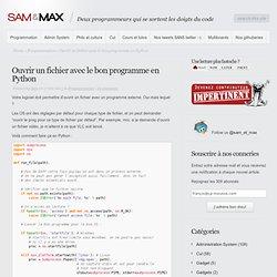 Ouvrir un fichier avec le bon programme en Python