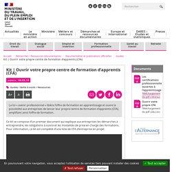 Ouvrir votre propre centre de formation d'apprentis (CFA)