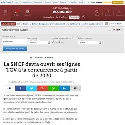 La SNCF devra ouvrir ses lignes TGV à la concurrence à partir de 2020