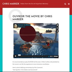 Ouvroir the Movie by Chris Marker