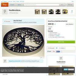 Oval Tree of Life Metal Wall Art by VanMetalArts on Etsy