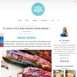 oven baked St Louis style ribs recipe
