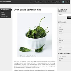 » Oven-Baked Spinach Chips