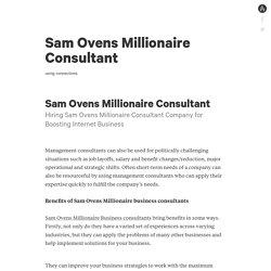 Sam Ovens Millionaire Consultant