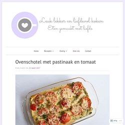 Ovenschotel met pastinaak en tomaat. +500g voorgebakken boerengehakt, aardappels op schijfjes, blik italiaanse garnituur. Zonder ei.