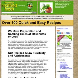 Over 100 Quick and Easy Recipes - StumbleUpon