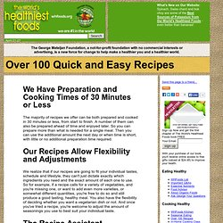 Over 100 Quick and Easy Recipes