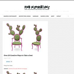Over 20 Creative Ways to Take a Seat | FindInspirations.com