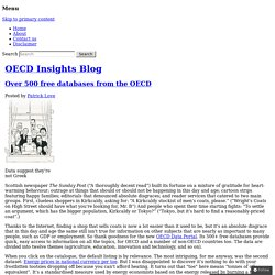 Over 500 free databases from the OECD