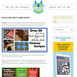 Over 60 Fruit Snack / Gummy Recipes