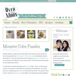 Over The Big Moon Monster Color Puzzles - Over The Big Moon
