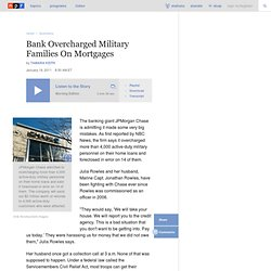 Bank Overcharged Military Families On Mortgages