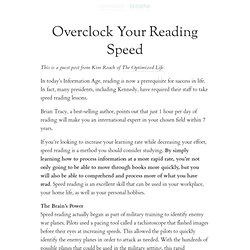 » Overclock Your Reading Speed