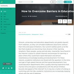 How to Overcome Barriers in Education with Webinars