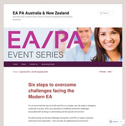Six steps to overcome challenges facing the Modern EA