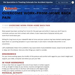 Overcome Work-From-Home Back Pain