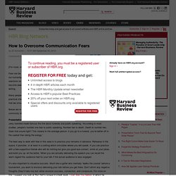 How to Overcome Communication Fears - JD Schramm