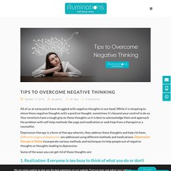 Tips to Overcome Negative Thinking
