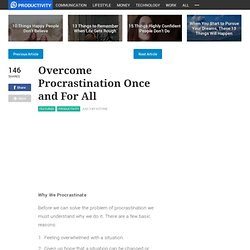 Overcome Procrastination Once and For All