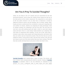 Overcome Suicidal Thoughts With Trivedi Effect