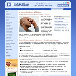 drug addiction recovery guide