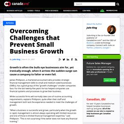 Overcoming Challenges that Prevent Small Business Growth