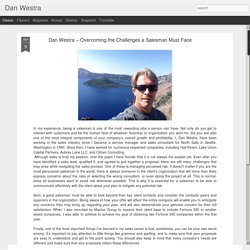 Dan Westra: Dan Westra – Overcoming the Challenges a Salesman Must Face