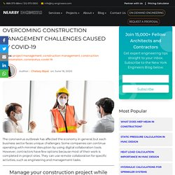 Overcoming Construction Management Challenges Caused by COVID-19