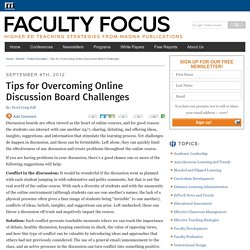 Tips for Overcoming Online Discussion Board Challenges