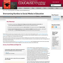 Overcoming Hurdles to Social Media in Education (EDUCAUSE Review